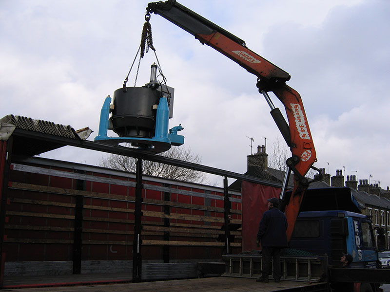 Centrifuge being Craned into Delivery Truck
